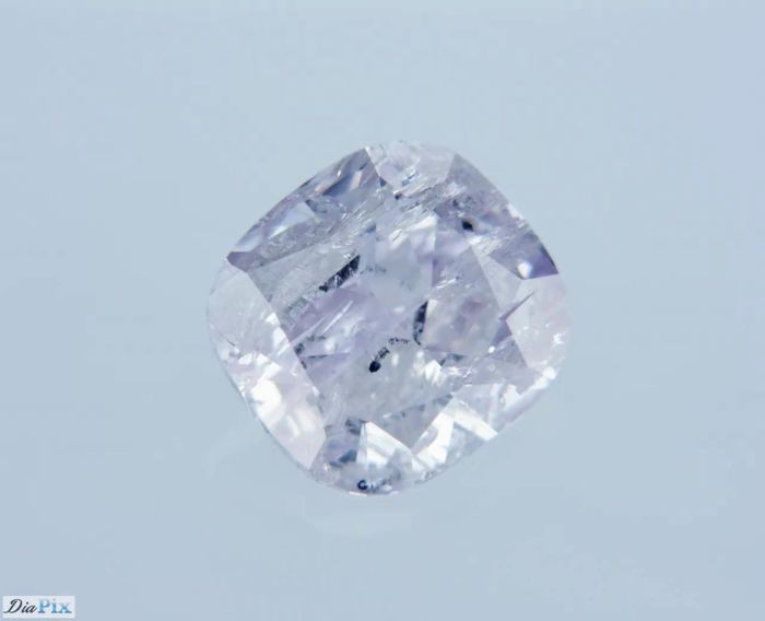 1 Diamant - 0.64 ct - Quadrat - Rosa - P