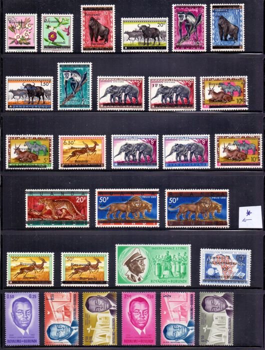 Burundi 1972/2002 - Composition stamps and series - OBP / COB tussen 5 & 1114