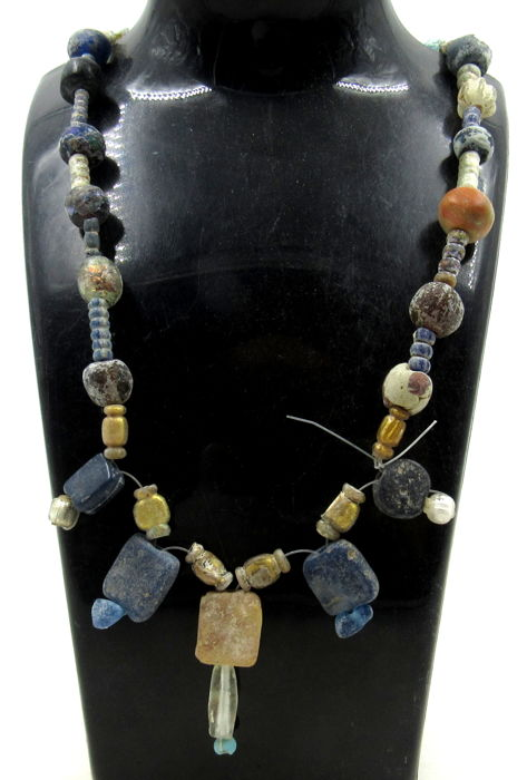 Oud-Romeins Glas Beaded Necklace - ××470 mm