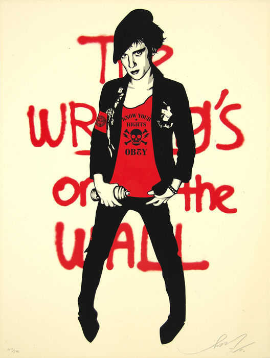 Shepard Fairey (OBEY) - Writing On The Wall (cream)