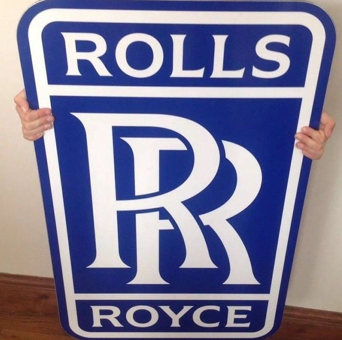 Sign - Very Large Rolls Royce Dealership Wall Sign - 1990 (1 items)