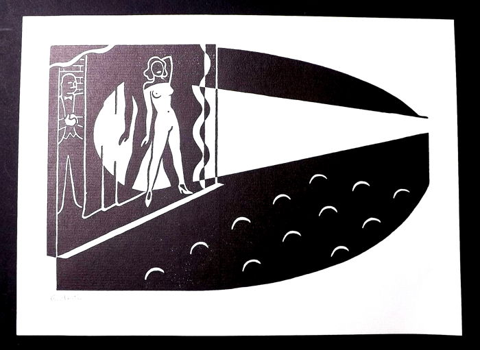 Gerd Arntz (1900-1988) German Modernist  - Construction from La Lune en Rodage III