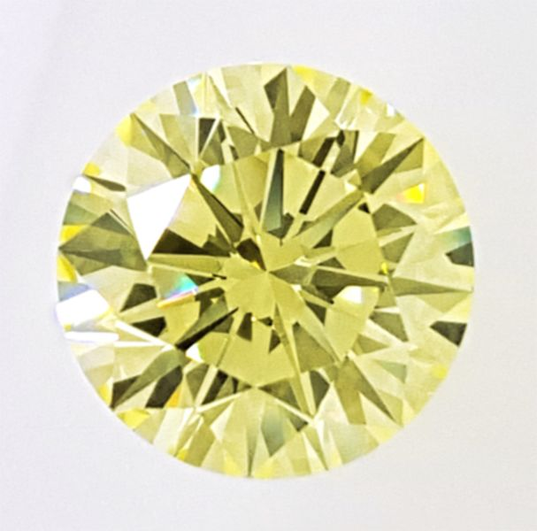 Diamant - 1.65 ct - Briljant - fancy yellow - VVS2