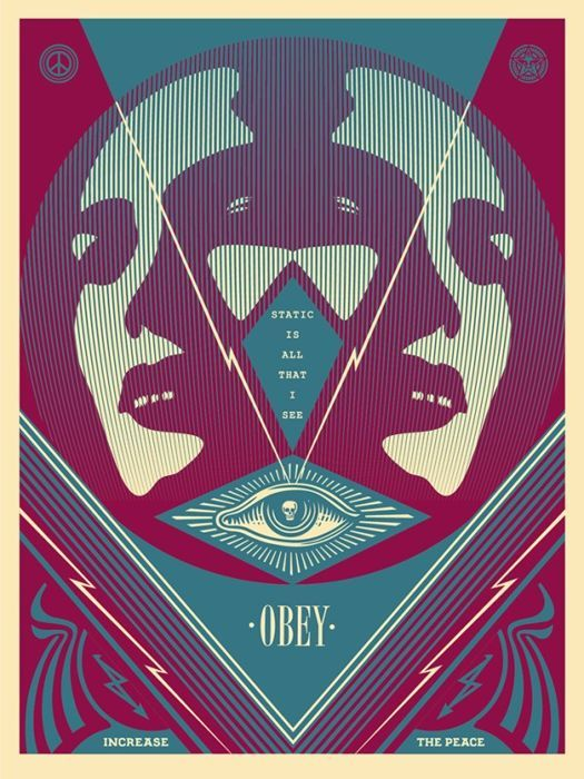 Shepard Fairey (OBEY) - I See Static (Blue)