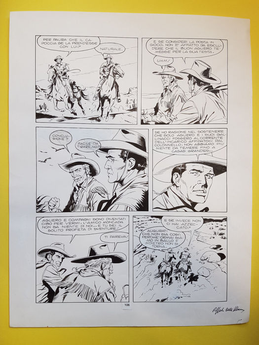 Tex - Della Monica - Original Page - Loose page - First edition - (2017)