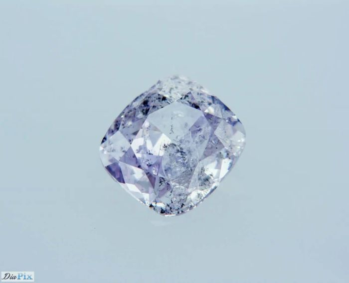 0.38 Carat GIA Fancy Light Pinkish Purple Cushion Diamond - LOW RESERVE!