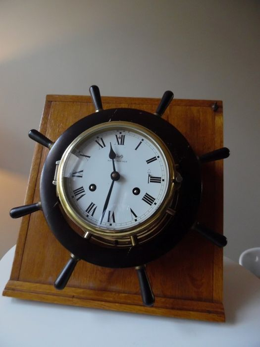 Clock Royal Mariner ship's bell Clock with S - Schatz  - Wood - Second half 20th century