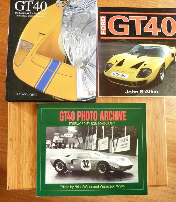 Books - Ford GT40 3x out-of-print - 1991-2002 (3 items)