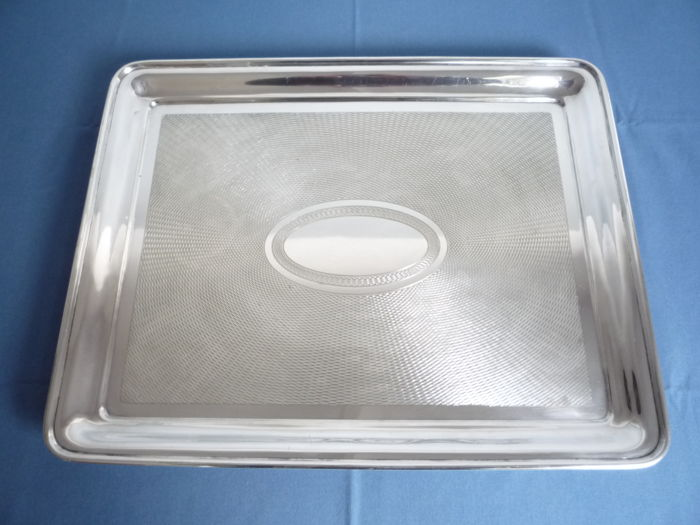 Large tray - Silver plated - France - 1950-1999