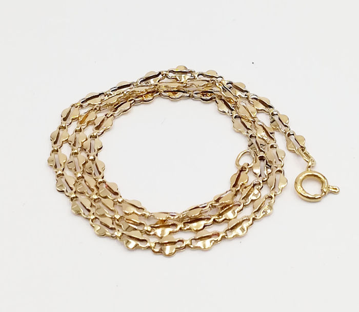 Chain in 18 kt Yellow Gold with Flat Links Length 40.00 cm Total Weight 7.07 g