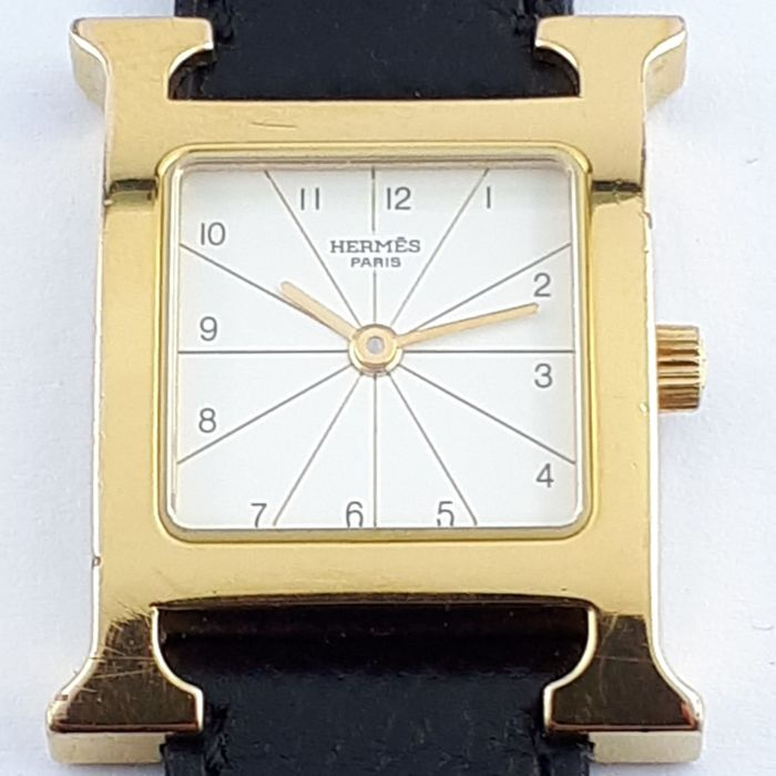 Hermès - H-Hour Gold Plated Steel - RS1.201 - Damen - 2000-2010