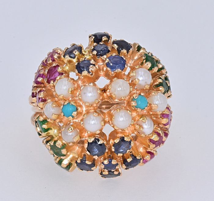 Ring - Gold - Sapphire and Ruby
