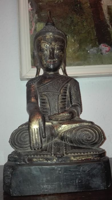 Antique wooden statue (58 cm) from Burma - late 19th century