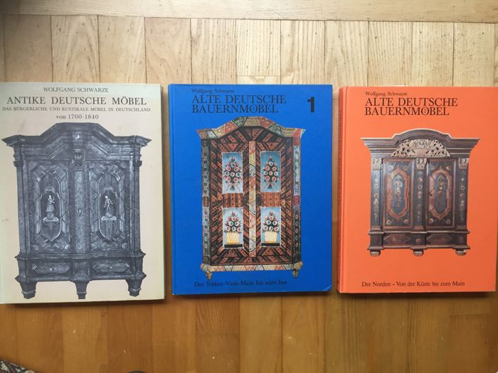 3 Books/reference works on antique German furniture - 3 - See Description -  18th - 3 Books/reference Works On Antique German Furniture - 3 - See