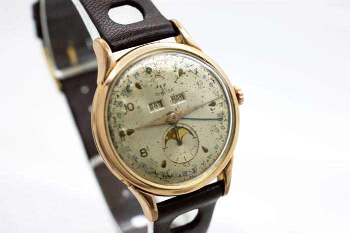 "Omega - ""Cosmic"" Triple Date Moonphase Very Rare! - Ref.2486-2 - Hombre - 1901 - 1949"