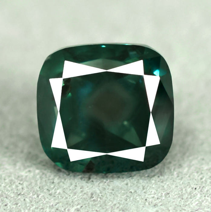 Fancy deep greenish blue (treated colour) diamond - 2.40 ct