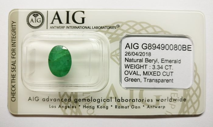 Emerald Green 3.34 ct ***No Reserve***