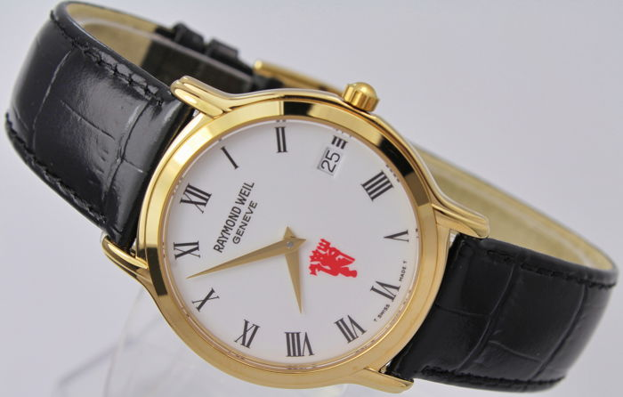 Raymond Weil - 18kt Gold Plated Box & Papers - 5569 - Manchester United Logo - Herren - 2000-2010