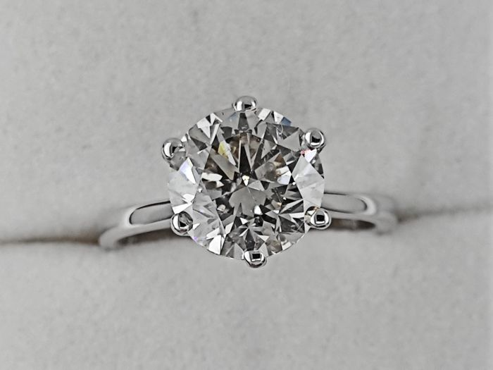 Ring - Gold - Commonly treated - 2.63 ct - Diamond