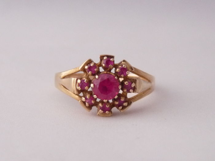 14kt Gold ring with Ruby.  Ring size -  18.55 mm.