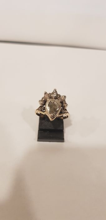 Unique Antique Gold and Silver Ring With Diamond