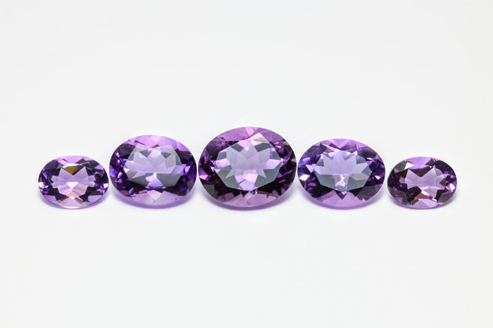 5 pcs  Amatista - 10.00 ct