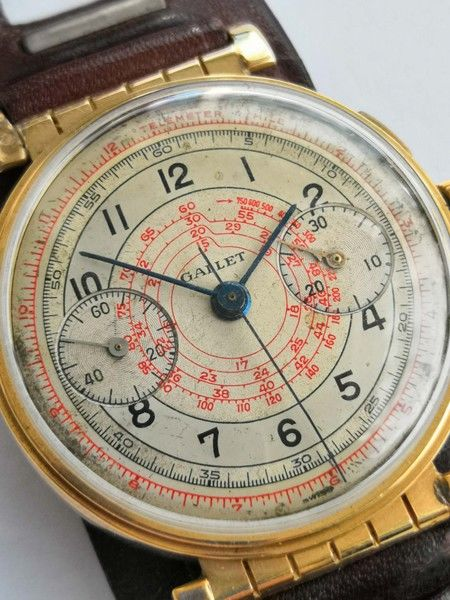Gallet -  1930th vintage Chronograph movable lugs - Hombre - 1901 - 1949