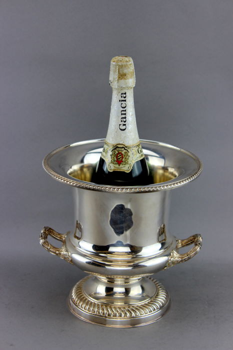 Vintage Champagne/ Wine cooler - Silverplate - Gaarard & Co. Ltd.  - U.K. - 1980