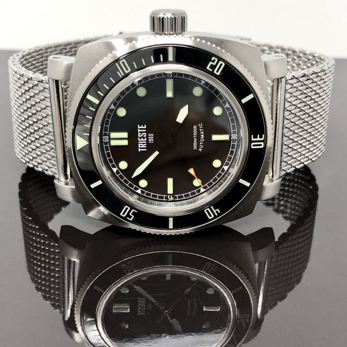 "Trieste - Automatic Diver Deep Sea Stainless Steel + 2 extra straps ""NO RESERVE PRICE"" - Deep Sea Steel - Men - 2011-present"