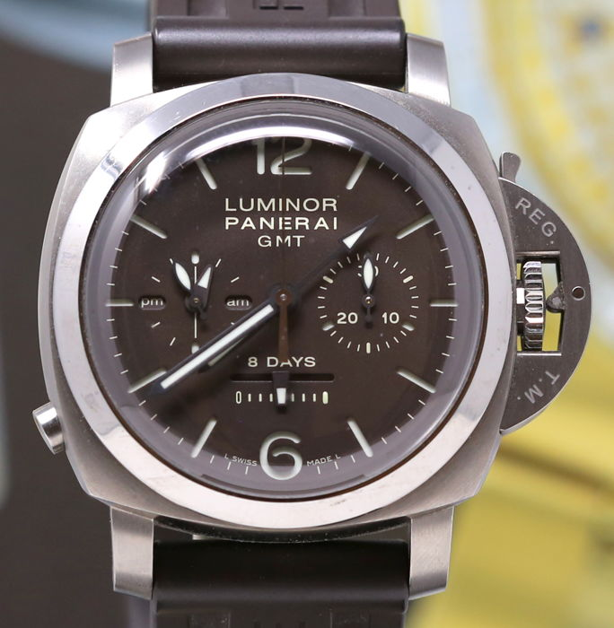 Panerai - Luminor 1950 8 Days Chrono Monopulsante GMT - PAM 311 - Homem - 2011-presente