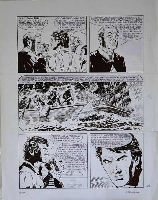 Zagor - R. Della Monica - tav. orig.  - Loose page - First edition