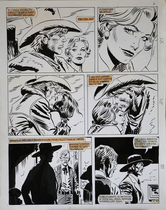 José Ortiz - original page - Loose page - First edition