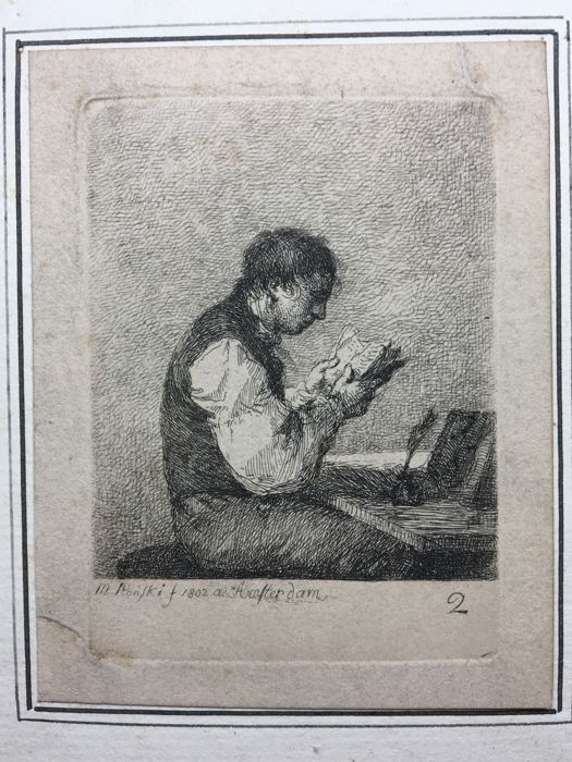 Michal Plonski (1782 - 1812) - Young Man Reading