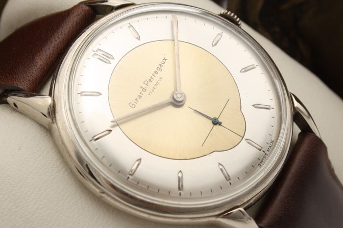 "Girard-Perregaux - Oversized 37,5mm ""NO RESERVE PRICE"" - Ref. 639567 - Hombre - 1960s"
