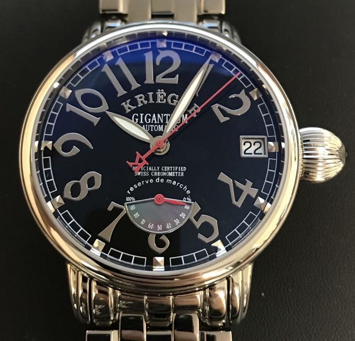 Krieger - Men's automatic 42mm with power reserve indicator - K8008.2.4 - Hombre - 2011 - actualidad