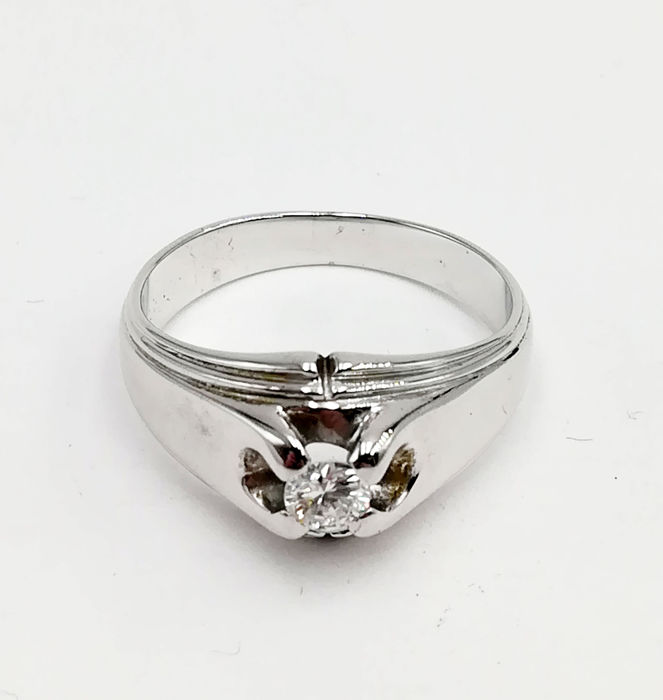 18 karaat Witgoud - Ring - 0.25 ct Diamant