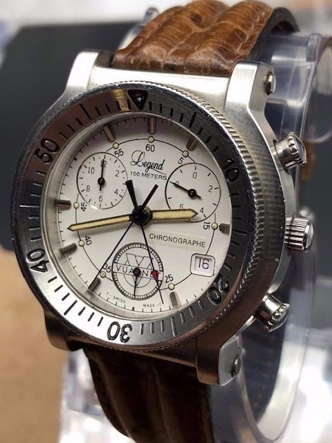 Vuarnet - 1990  Legend-Chronograph - ETA - Heren - 1990-1999