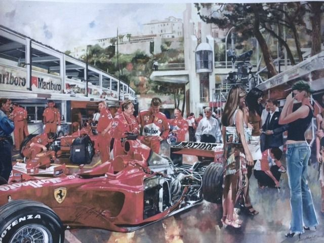 Objeto decorativo - Ferrari Pit Scene With Schumacher by Craig Warwick - 2008 (1 objetos)