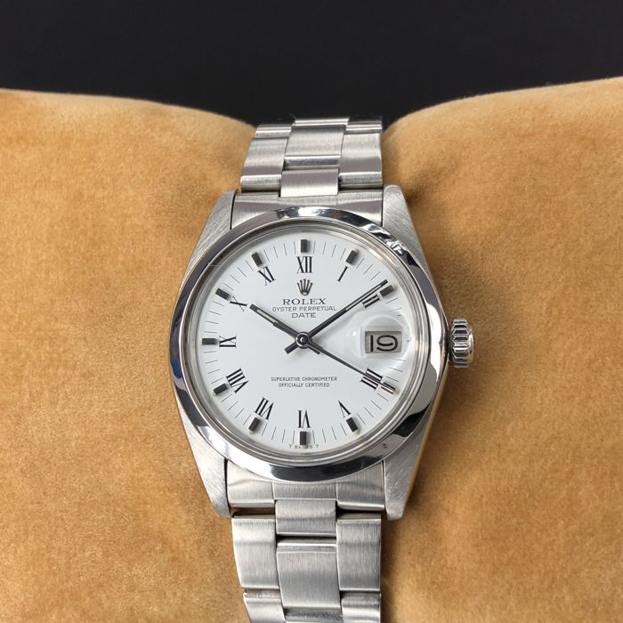 Rolex - Oyster Perpetual Date White Dial - 1500 - Unisex - 1970-1979