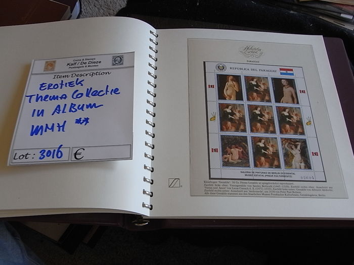World 1945/1990 - Theme Eroticism on stamps  in luxe album