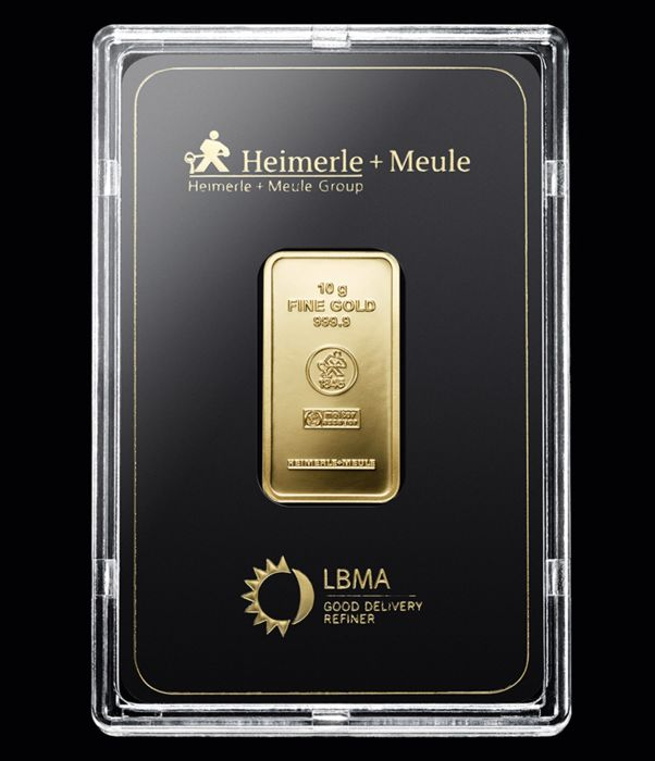Heimerle & Meule - 10 g - 999.9 Gold - Minted - Sealed