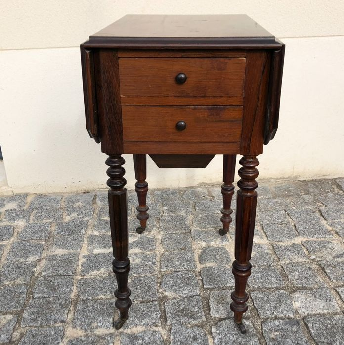 19th century Pembroke bedside table - Rosewood - 19th century