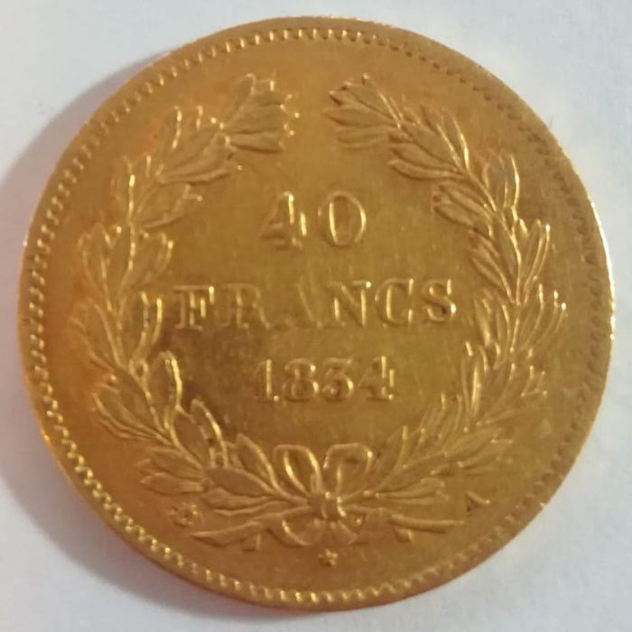 France - 40 Francs 1834-A Louis Philippe I - gold