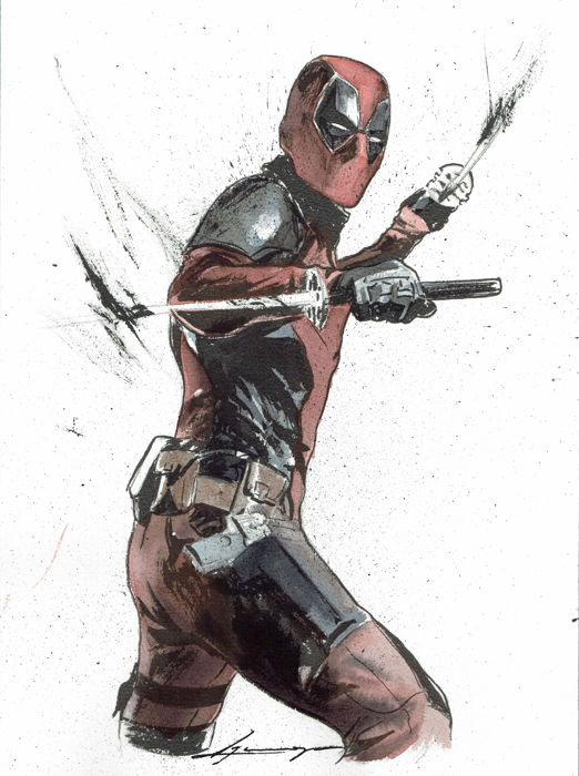 Deadpool - Original Painting - Daniel Azconegui - First edition