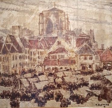 Alfons Blomme (1889-1979) - Grote markt in Roeselare