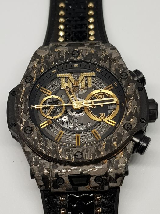 Hublot - Big Bang UNICO Carbon Gold - 411.QX.1180.PR.TMT18 - Bărbați - 2011-prezent