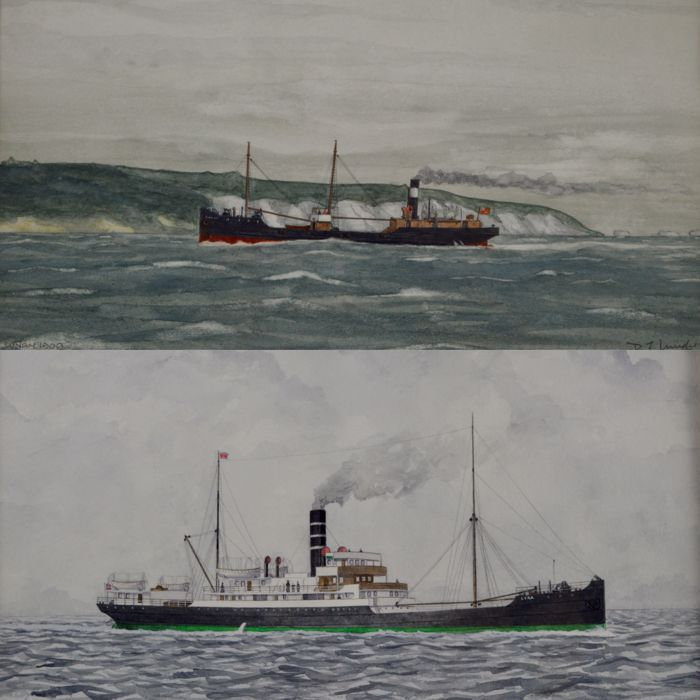D. J. Mudie - A pair of paintings of SS Lunan and SS Lyra