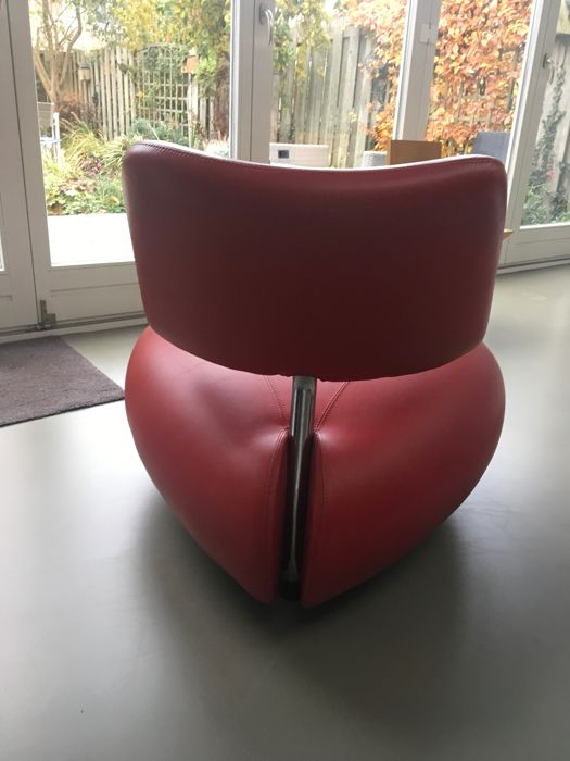 Fantastic Karel Boonzaaijer Leolux Pallone Leather Chair Red 1 Catawiki Pdpeps Interior Chair Design Pdpepsorg