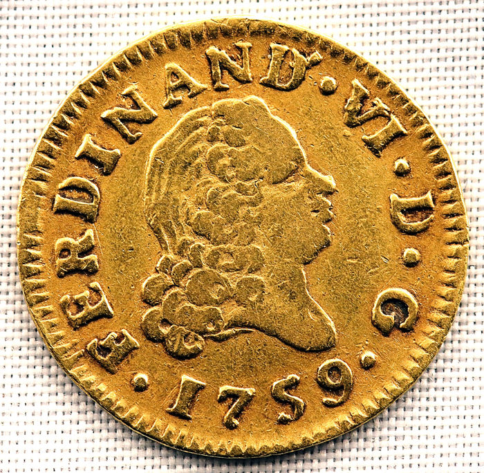 Spain - 1/2 Escudo - 1759-JB - Madrid - Fernando VI - VERY SCARCE - Gold