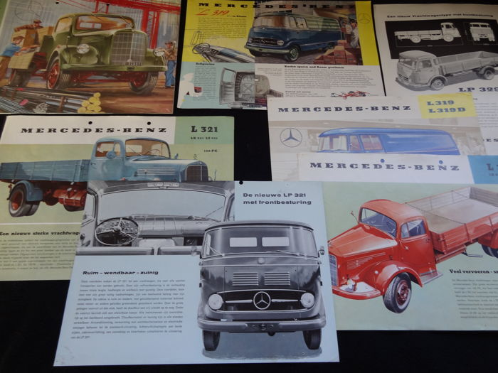 Brochures / Catalogi - Mercedes- Benz oude Vrachtauto's - 1940-1960 (8 items)